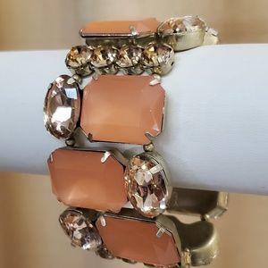 LOFT Orange Rhinestone Stretch Bracelet #507